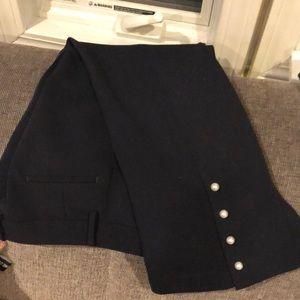 Ann Taylor Petite Pants - Navy 4p